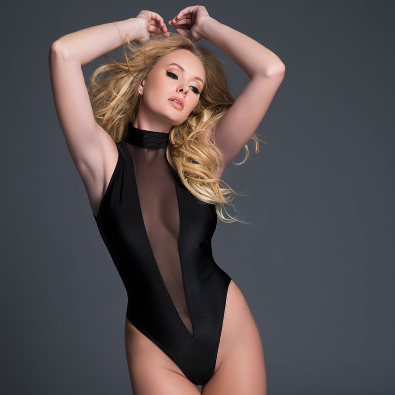 Adore Tia Sheer Sleeveless Bodysuit - Zinful Pleasures