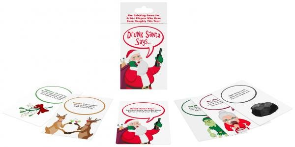 Drunk Santa Says Naughty Drinking Card Game - Zinful Pleasures