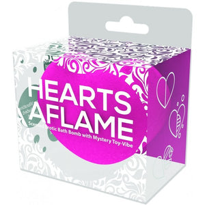 Hearts Aflame Scented Erotic Bath Bomb With Mystery Toy