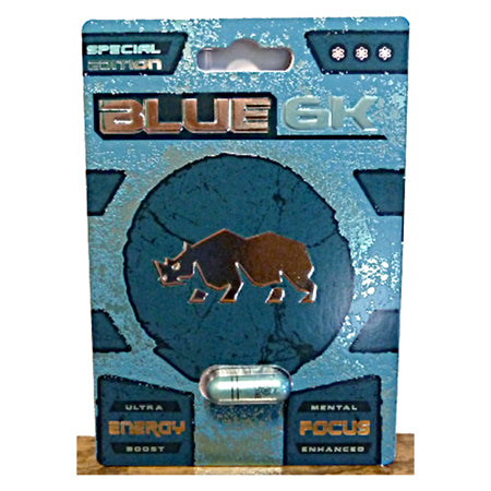 Special Edition Rhino Blue 6K Male Sexual Enhancement Pill - Zinful Pleasures