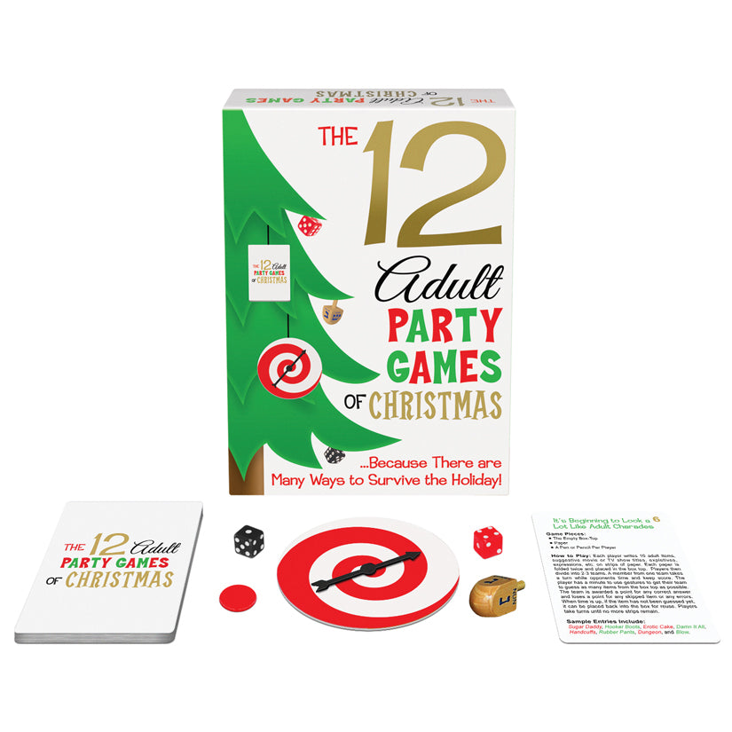 The 12 Adult Party Games Of Christmas Card Game