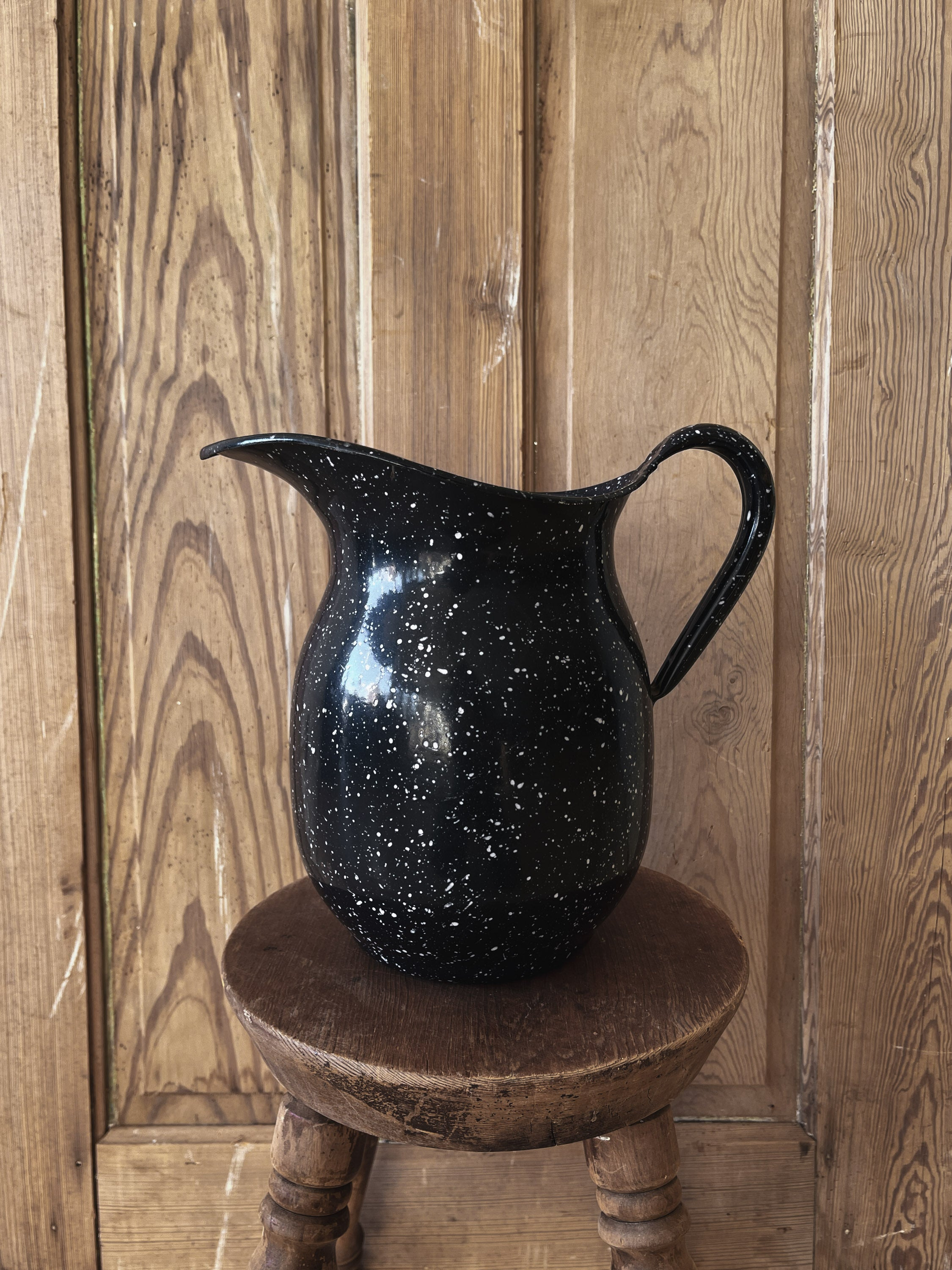 Vintage speckled Pitcher