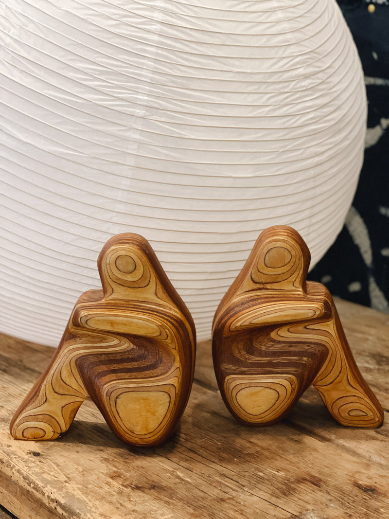 MCM Wood Bookends