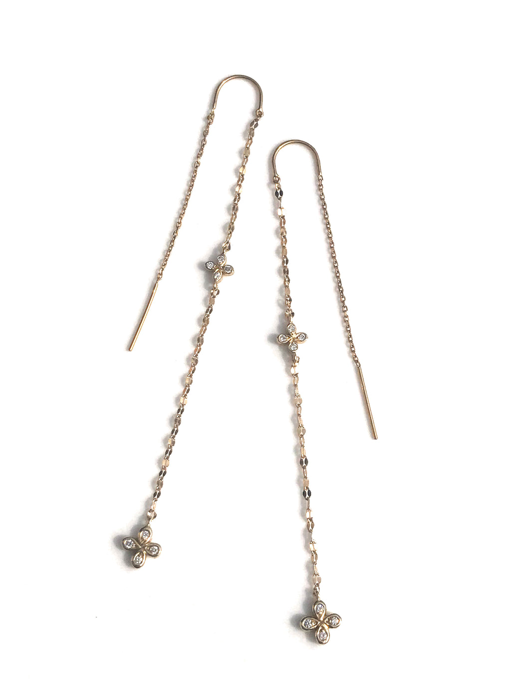 Diamond Threader Earrings - IN STOCK
