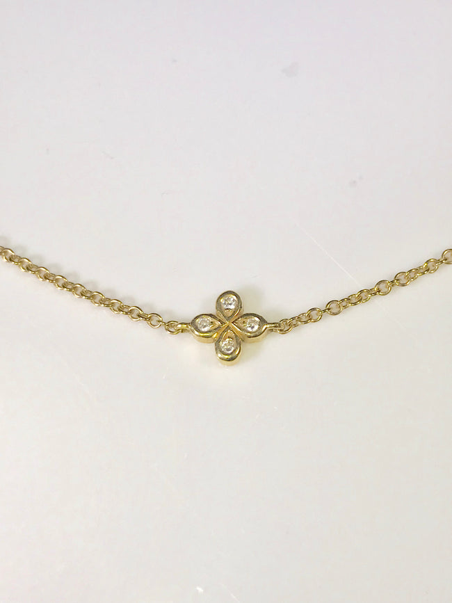 Adjustable 18k Diamond Lariat Necklace SPECIAL ORDER