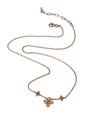 Dainty Diamond Necklace in 18k Rose Gold- out of stock