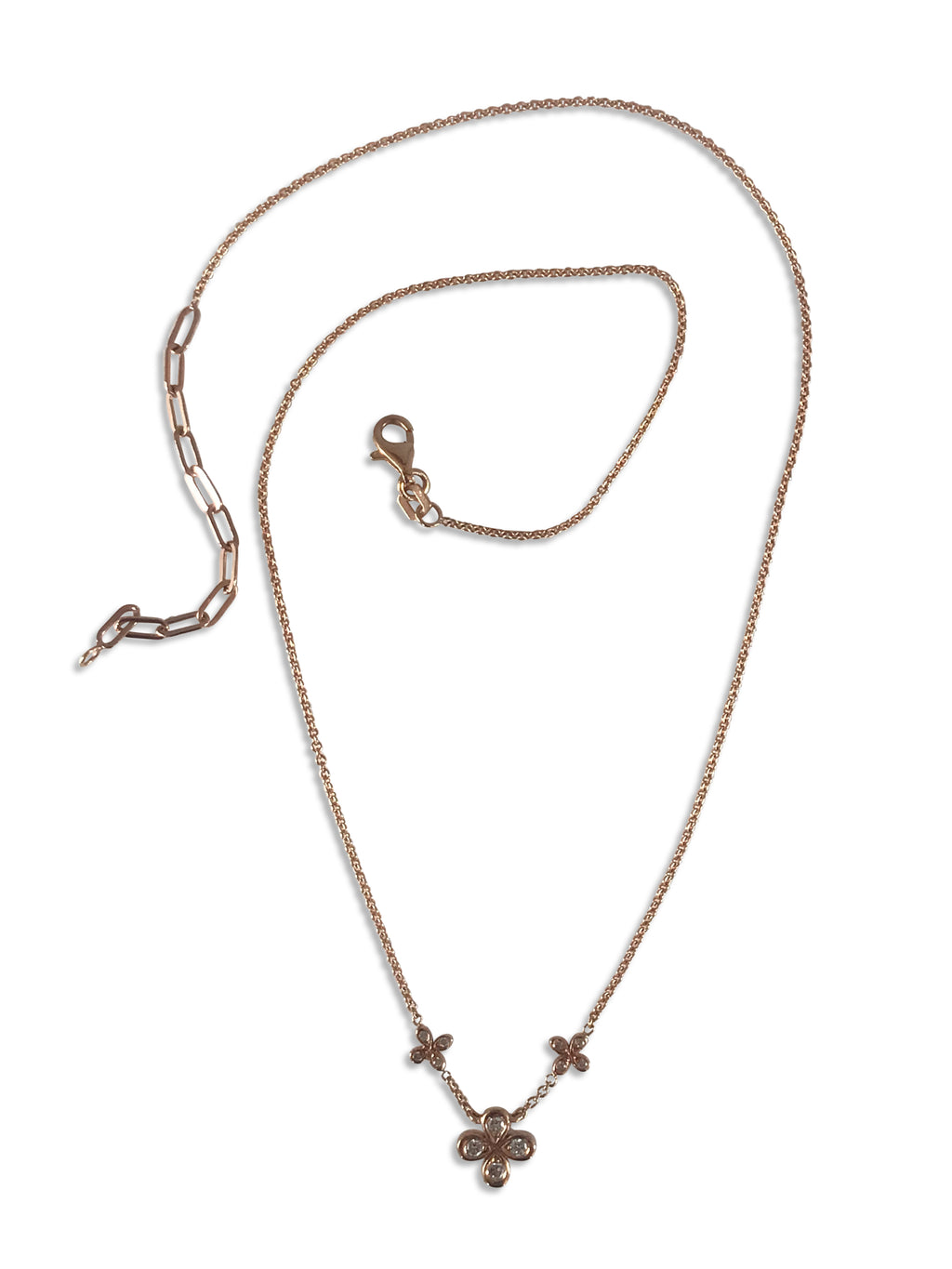 Dainty Diamond Necklace in 18k Rose Gold