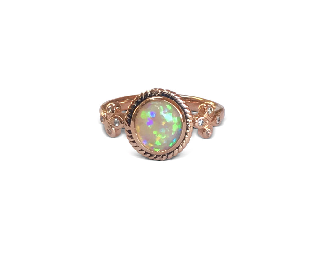 Opal Solitaire Cocktail Ring - IN STOCK