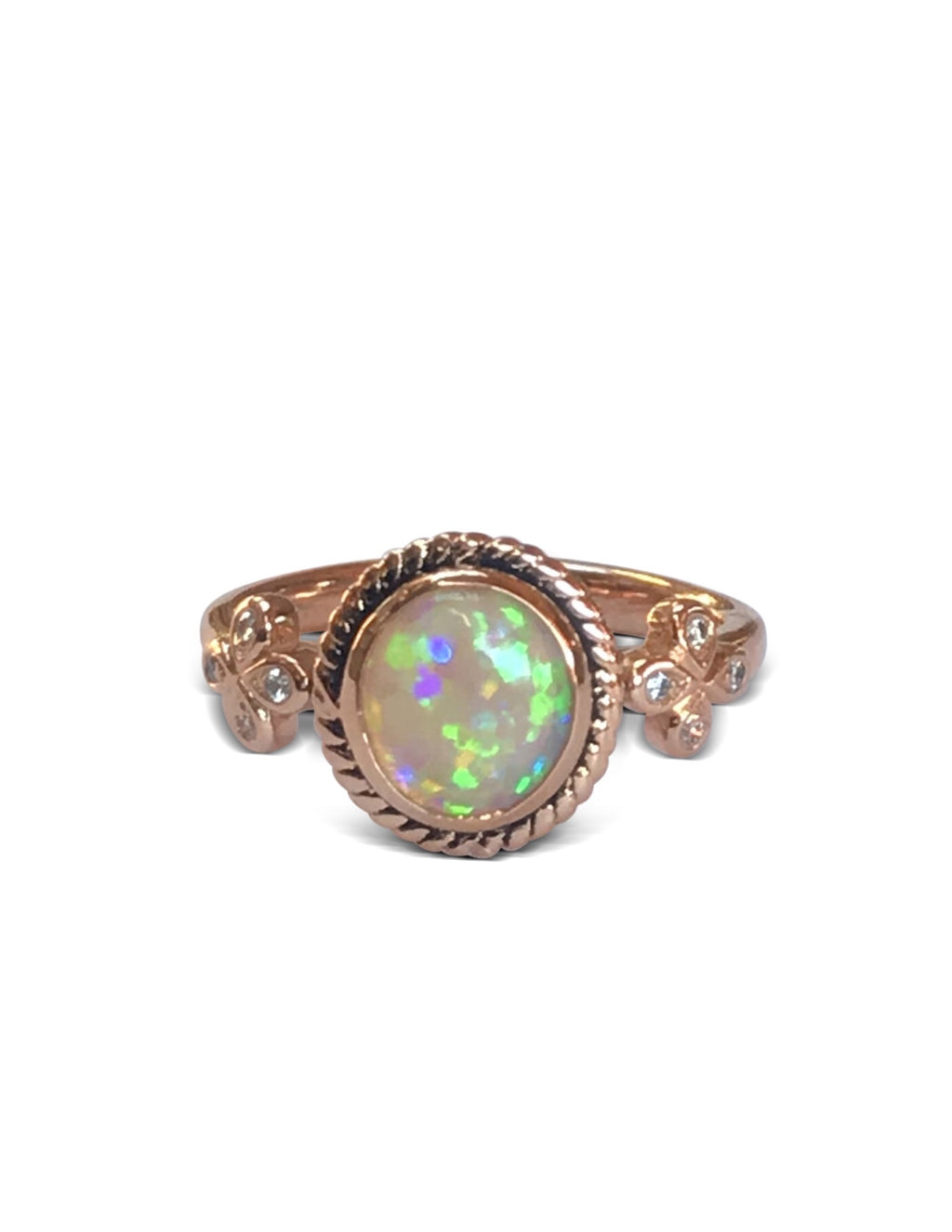Opal Solitaire Cocktail Ring