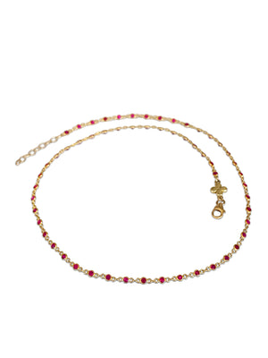 Dainty Ruby Necklace - Back in stock!