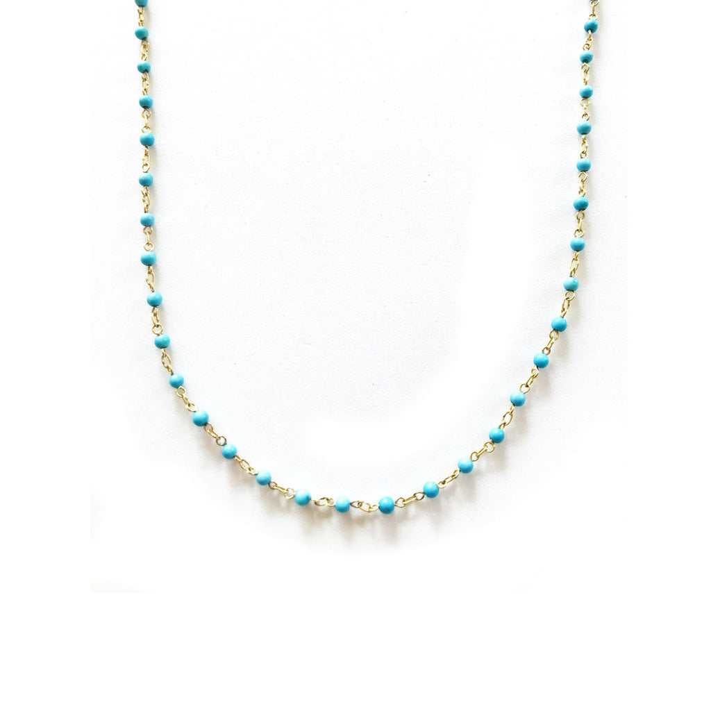 Turquoise Bead Link Chain - Back in Stock!