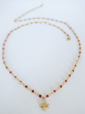 Dainty Ruby Necklace - Just sold! Available for special order