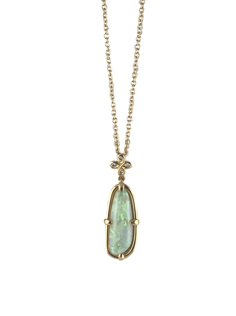 Neon Opal Pendant - IN STOCK