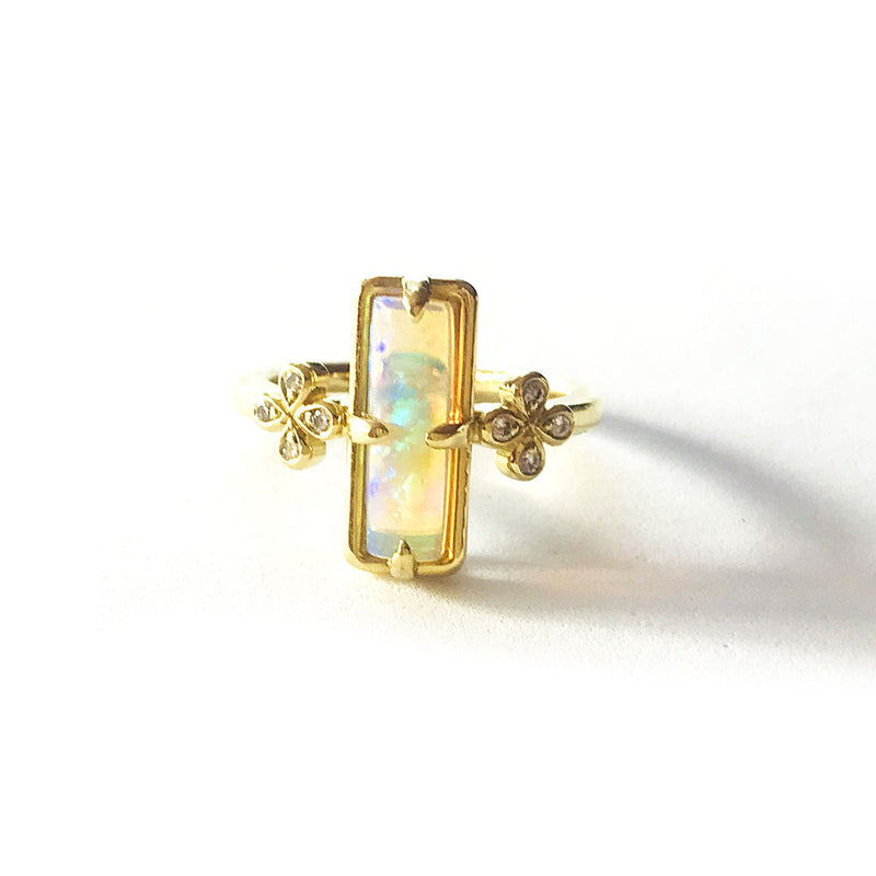 Rectangle Opal Solitaire