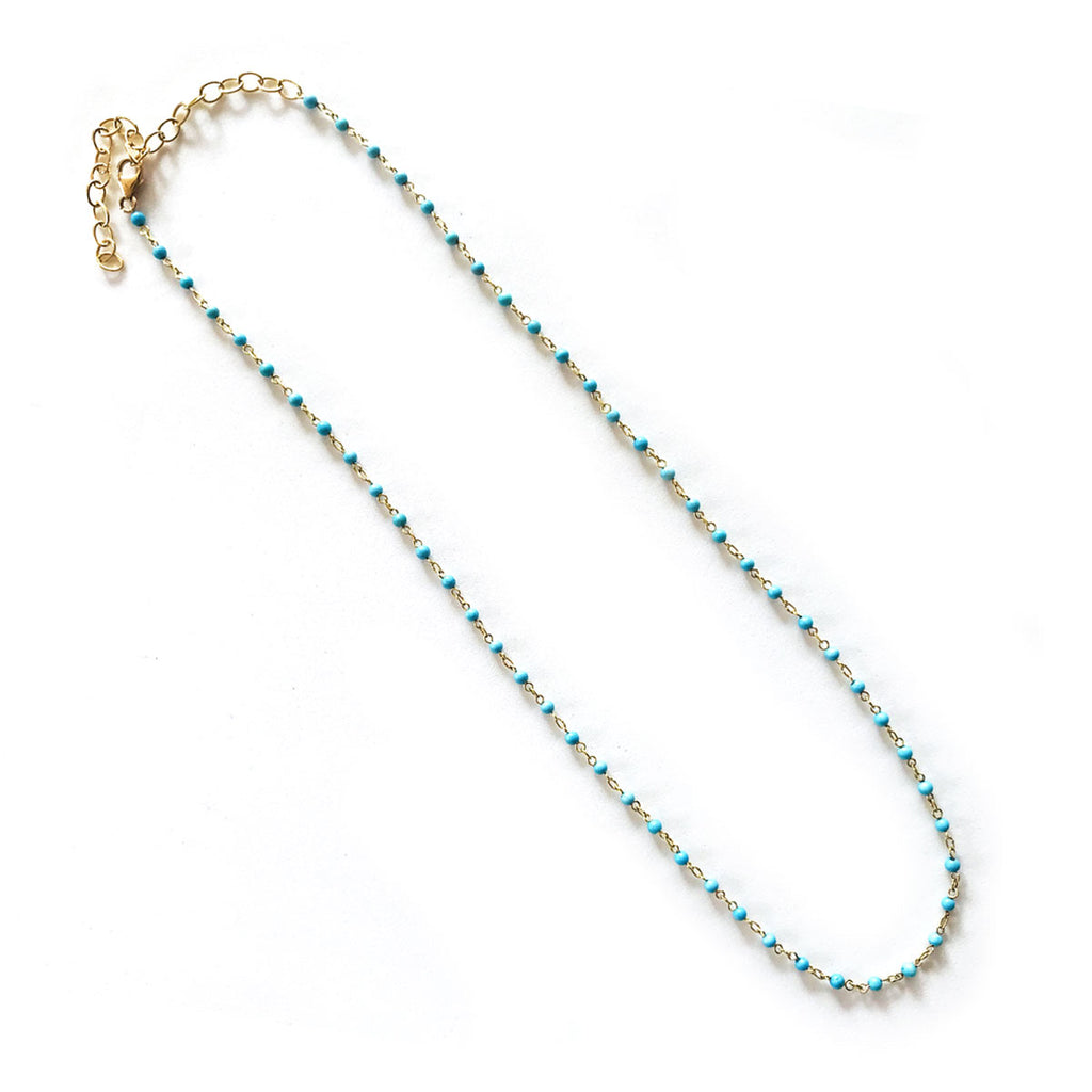 Turquoise Bead Link Chain