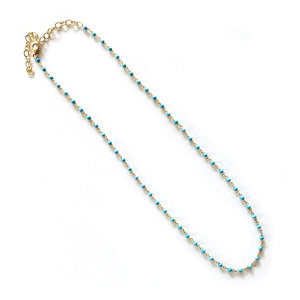 Turquoise Bead Link Chain - sold out but back soon!