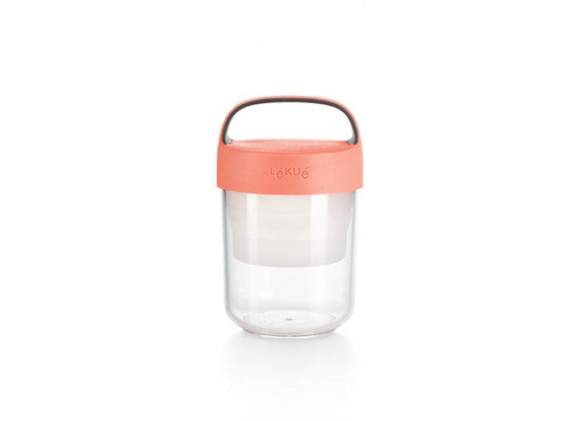 Jar to go 400 ml. Lékué rojo
