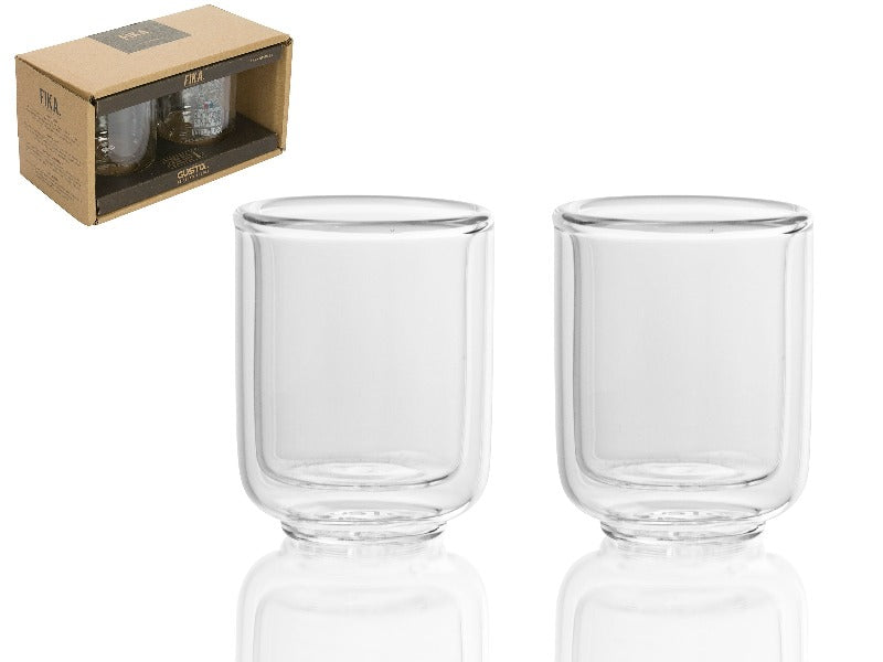 Set dos vasos doble pared