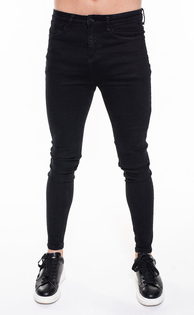 SENKO SPRAY ON JEANS - BLACk