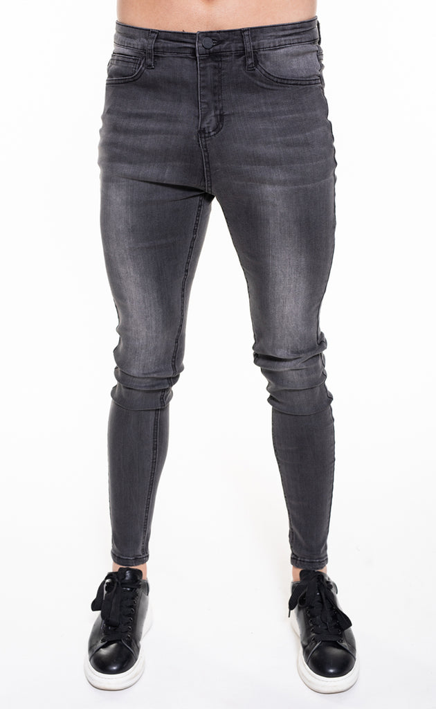 SENKO SPRAY ON JEANS - GREY