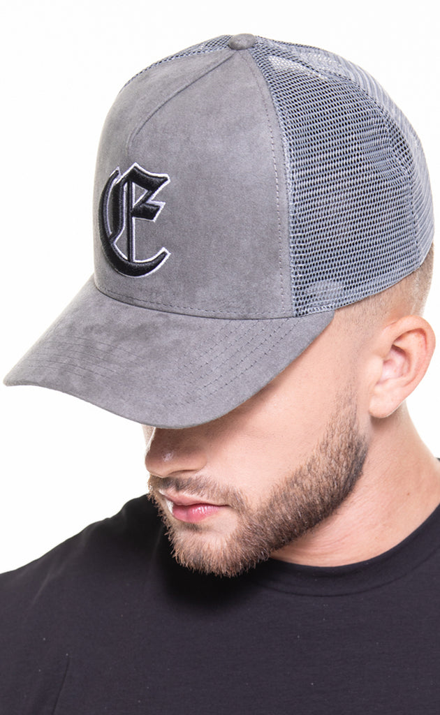 CORE SUEDE TRUCKER CAP - GREY