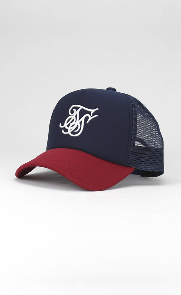 FOAM TRUCKER CAP - RED/NAVY