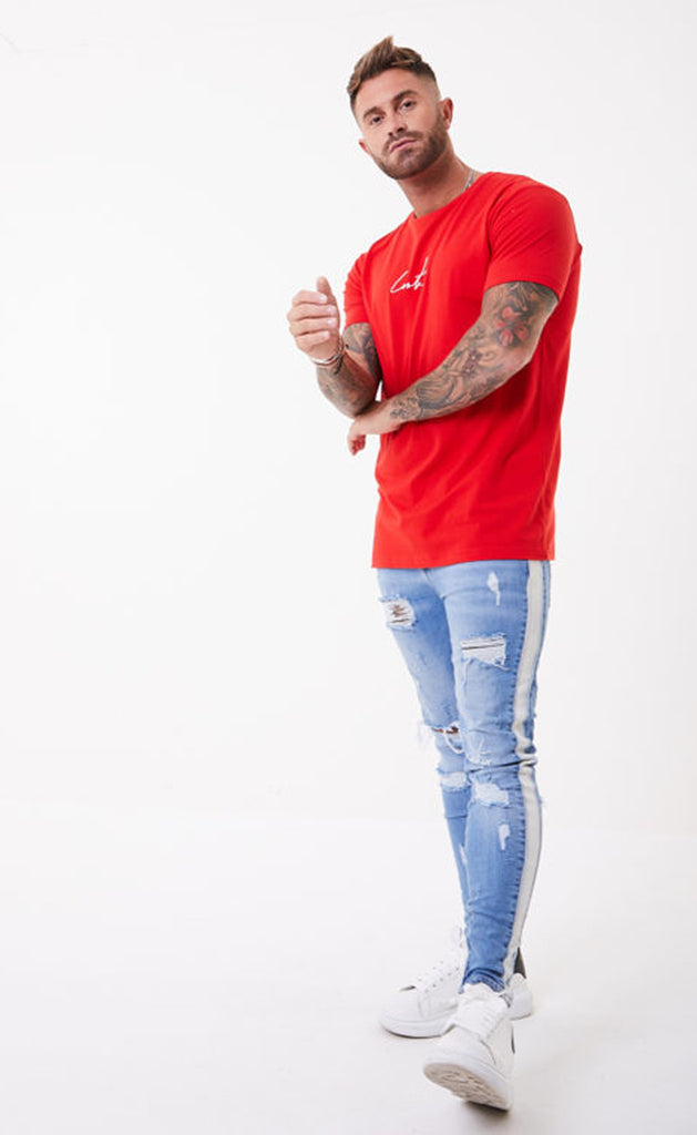 ESSENTIALS TEE - RED