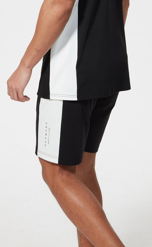 SIDE PANEL JERSEY SHORT BLACK/WHITE
