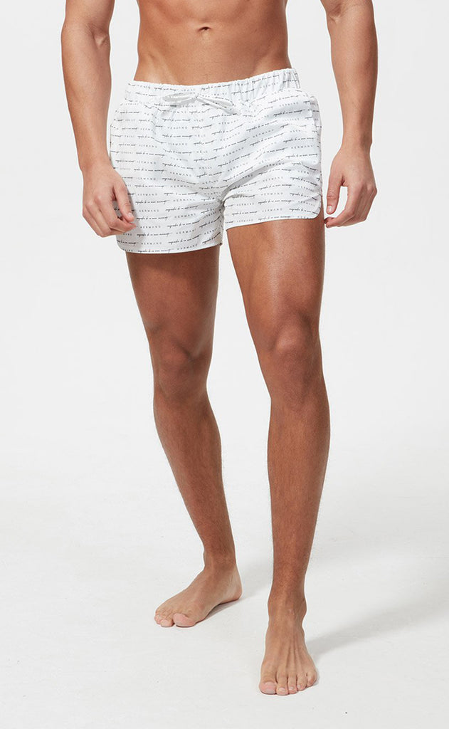 HERMANO SWIM SHORT SIGNATURE WHITE