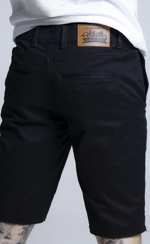 RAW HEM CHINO SHORTS - NAVY