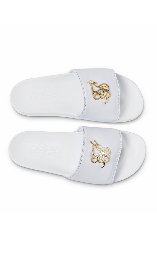 ROMA LUXE SLIDES - WHITE
