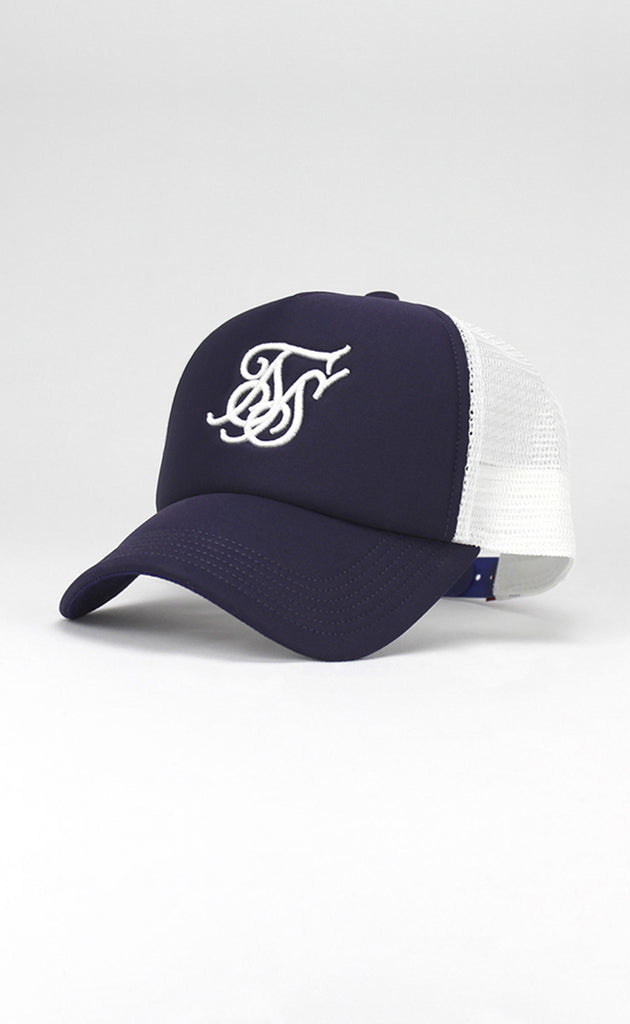 FOAM TRUCKER CAP - NAVY/WHITE