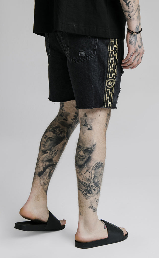 CARTEL DENIM SHORTS - BLACK