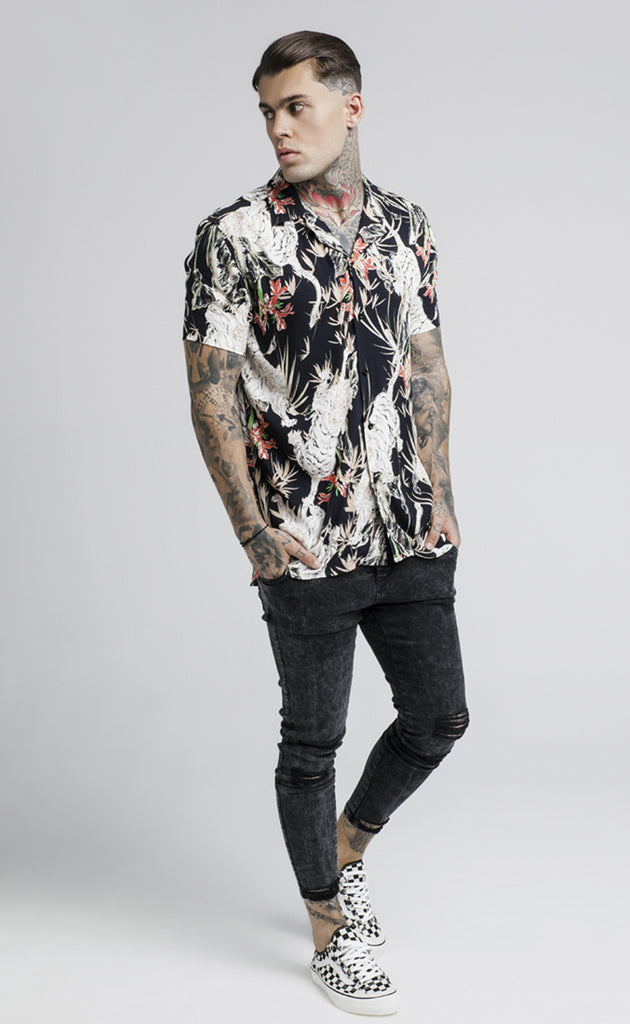 LION RESORT SHIRT - BLACK