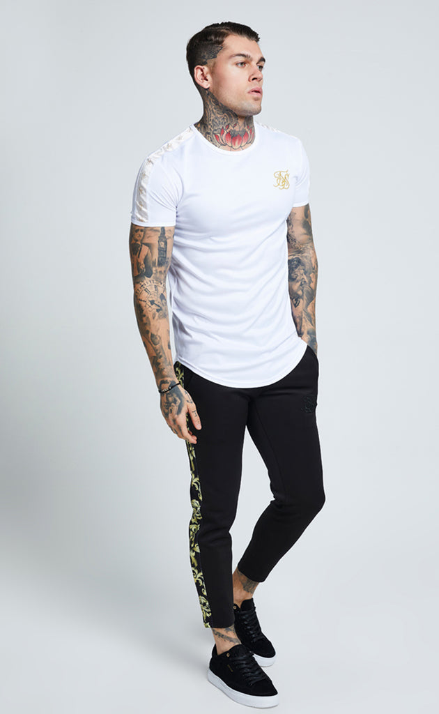 LUREX GOLD TAPE TEE - WHITE