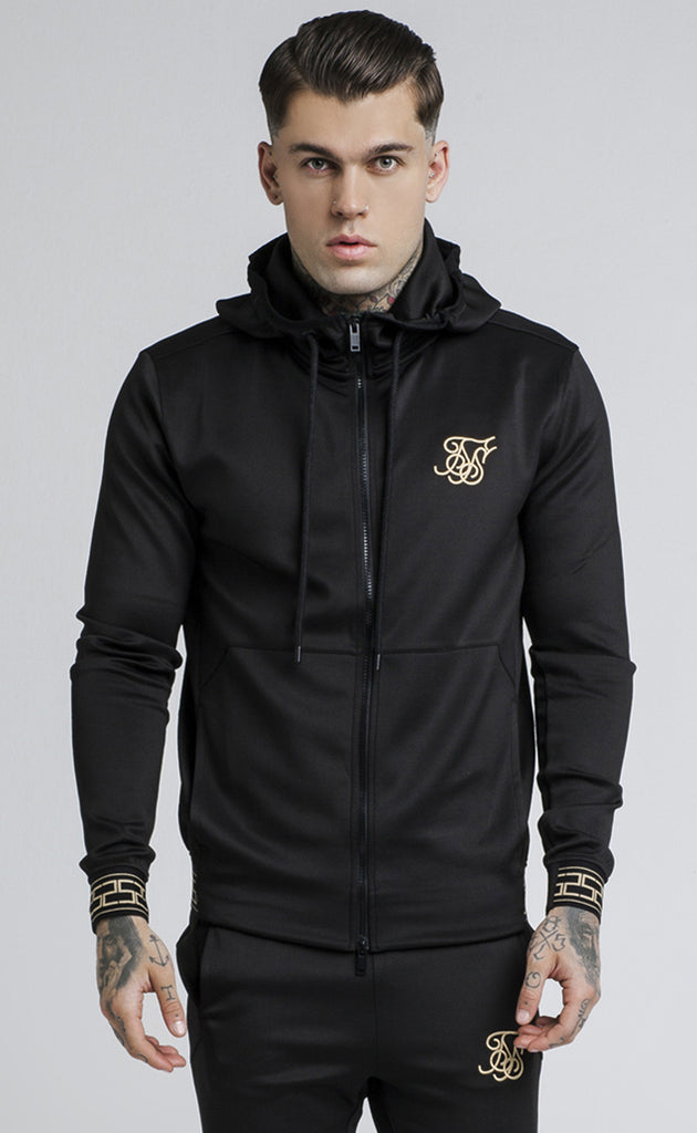 SIKSILK CARTEL AGILITY ZIP THROUGH TRACK TOP