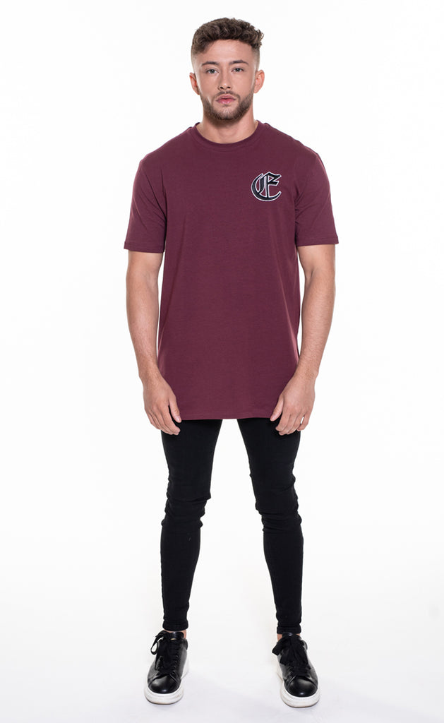 CORE OVERSIZED T-SHIRT - BURGUNDY