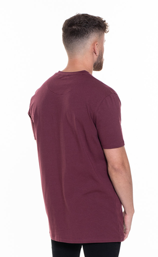 ESSENTIAL OVERSIZED T-SHIRT - BURGUNDY