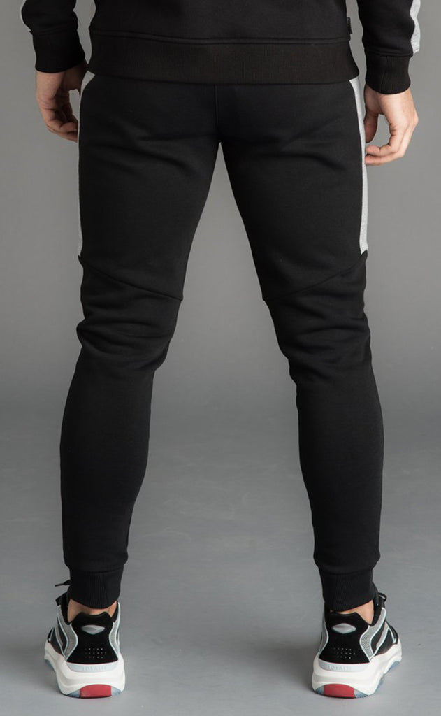 GK KOEN TRACKSUIT BOTTOMS - BLACK/GREY