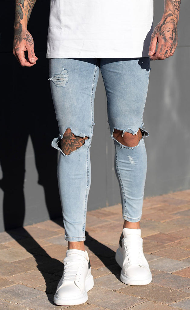 DESTROYED JEANS (LIGHT BLUE)