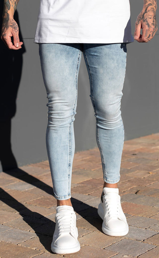 SUPER SPRAY ON JEANS (LIGHT BLUE)