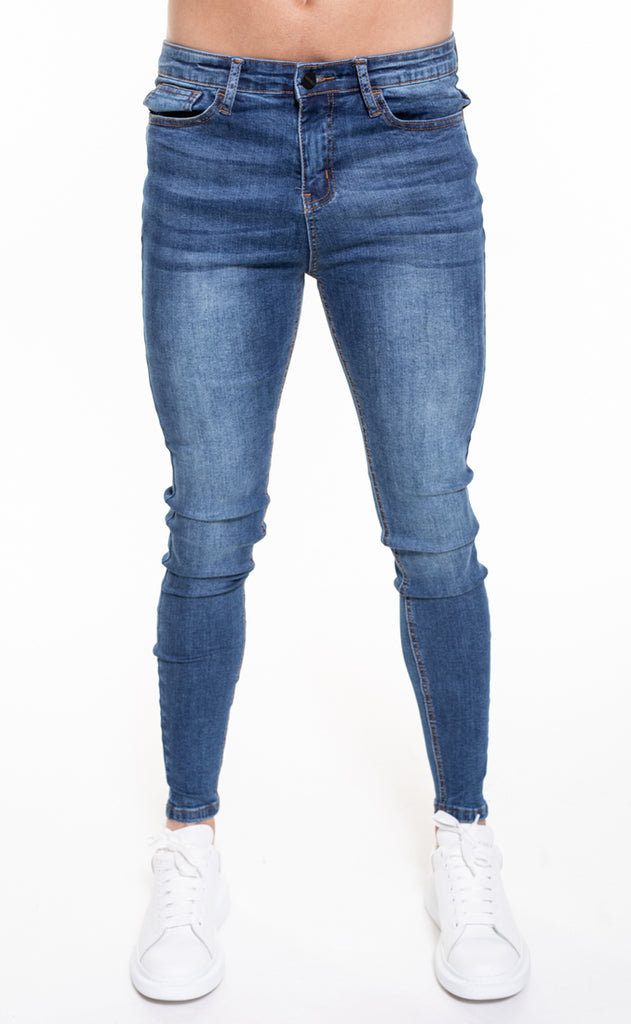 SENKO SPRAY ON JEANS - BLUE