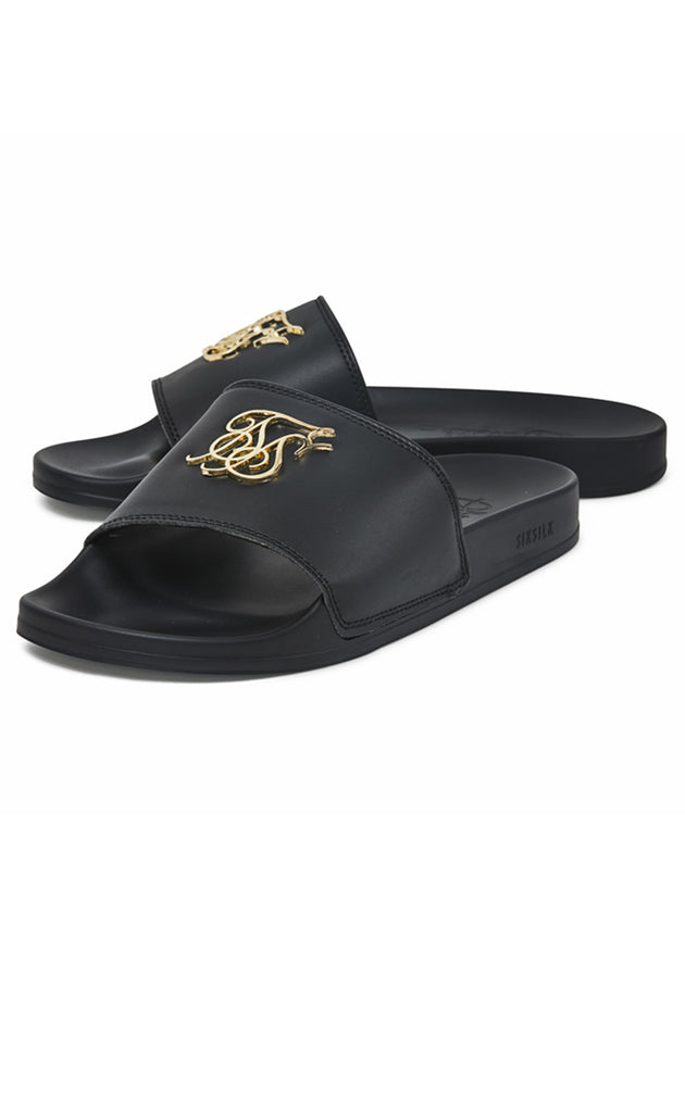 ROMA LUXE SLIDES - BLACK