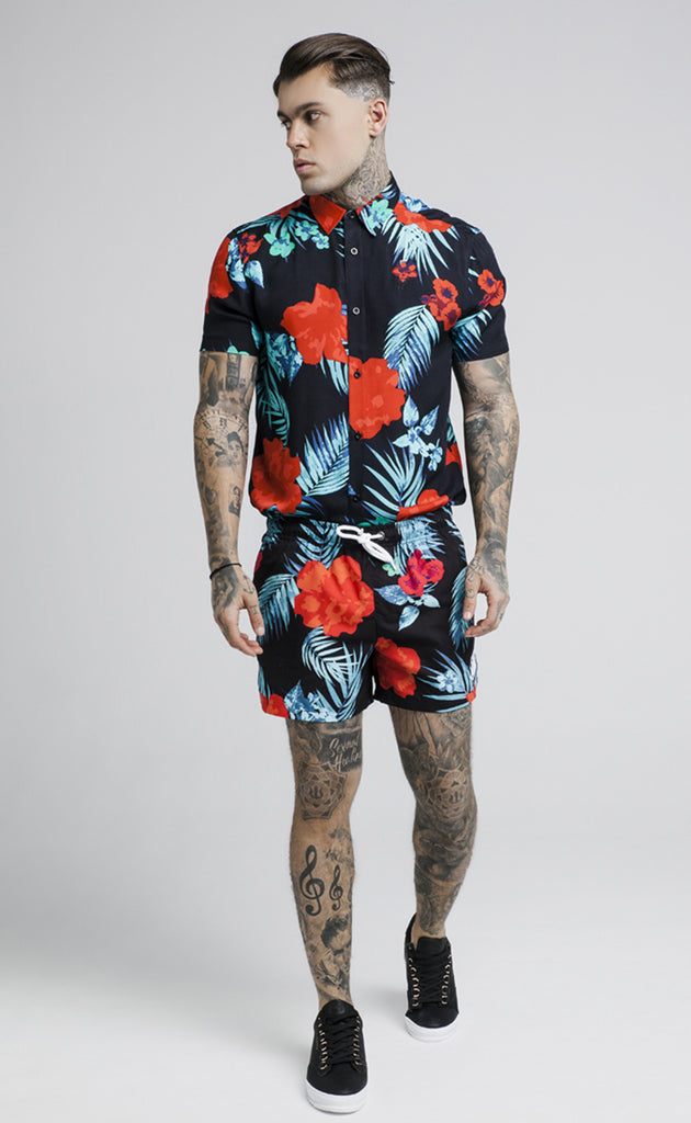 SIKSILK S/S HAZY DAZE RESORT SHIRT