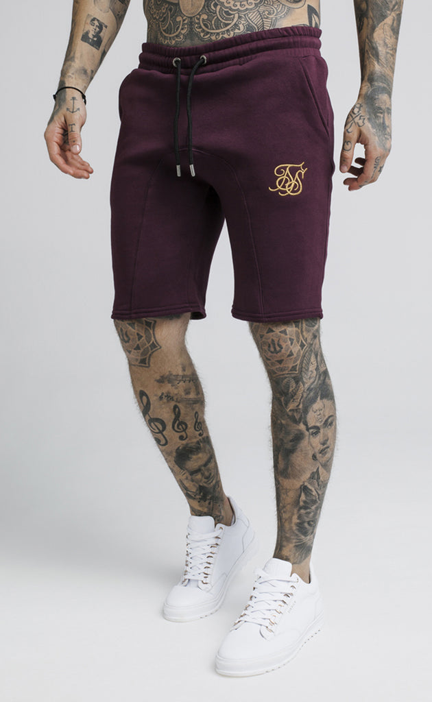 SPORT FIT SHORTS - BURGUNDY