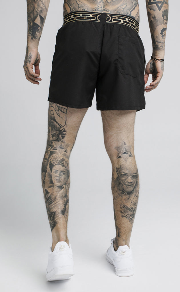 CARTEL STANDARD SWIM SHORTS - BLACK
