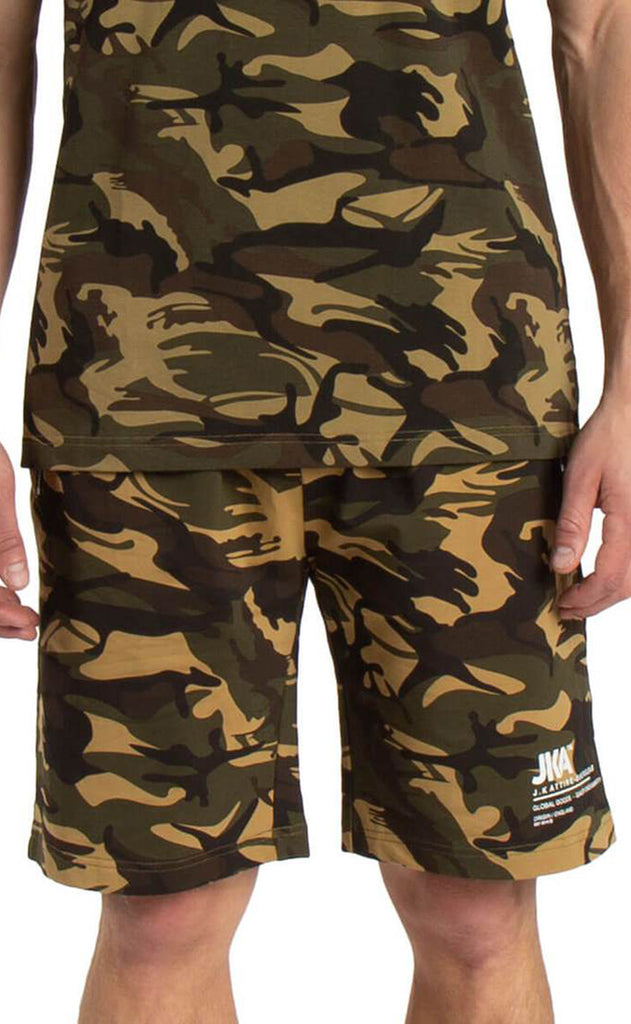 JKA OVERSIZED ROTATE CAMOFLAGE SHORTS