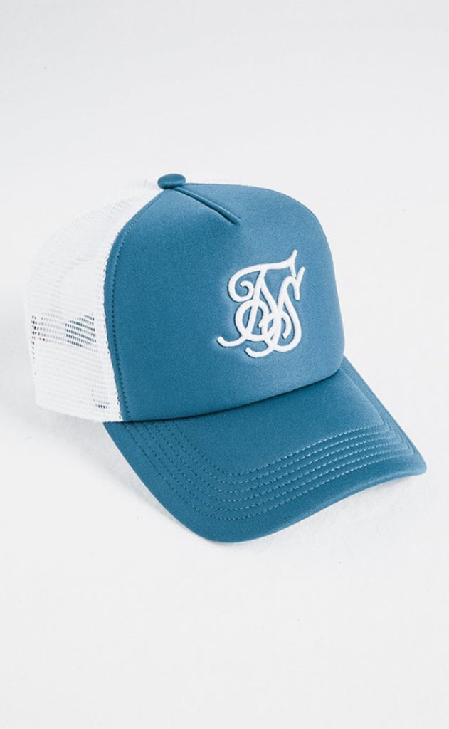 Foam Bent Peak Trucker Cap – Teal