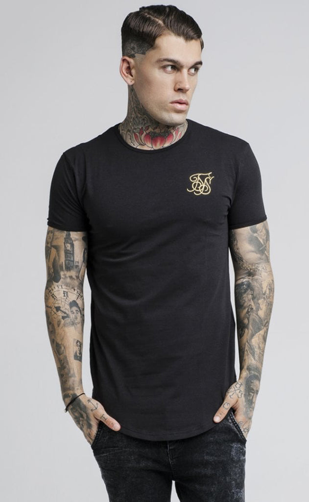 S/S GYM TEE - BLACK/GOLD