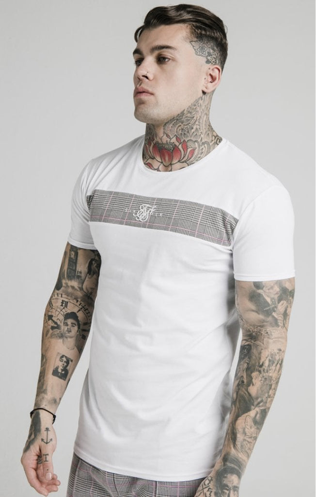 SikSilk S/S Panel Smart Tee – White